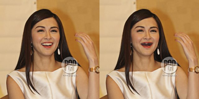 Marian Rivera without teeth