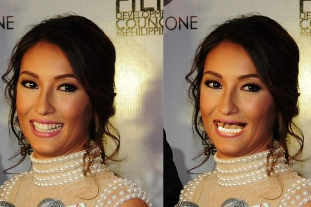 Solenn Heussaff without teeth