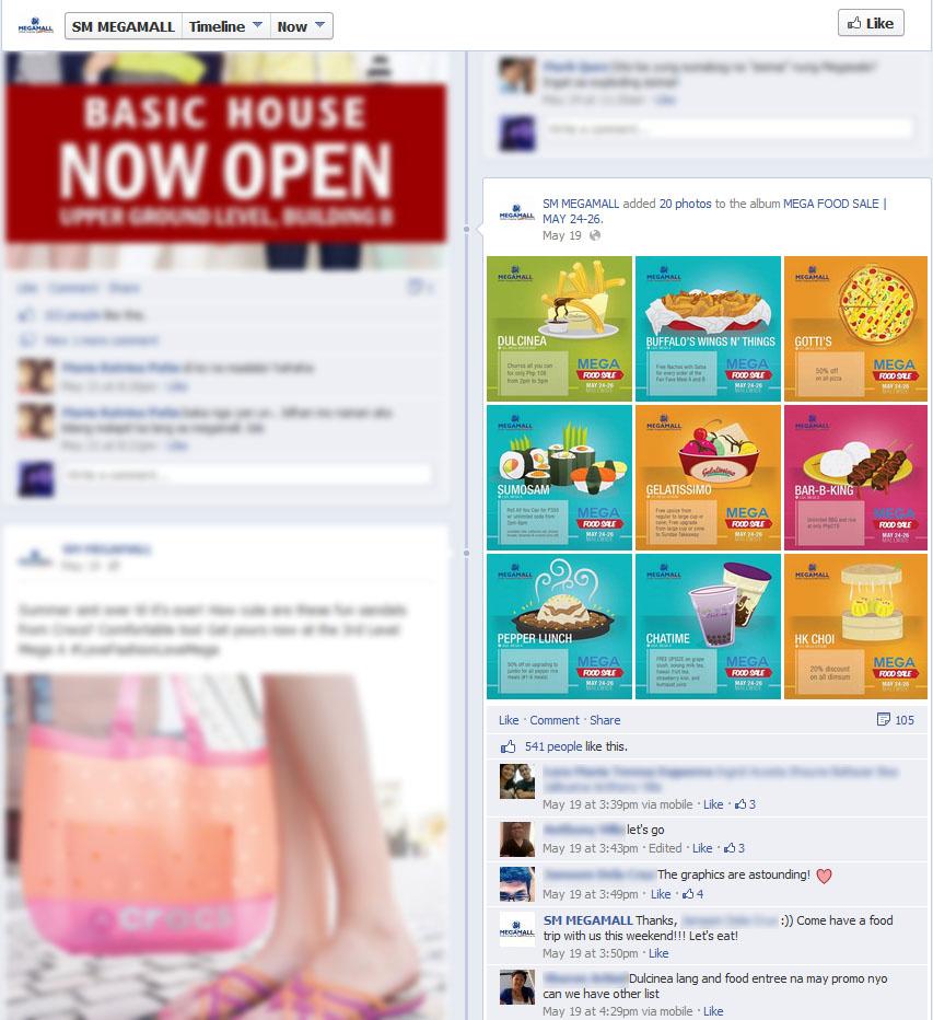 SM Mega Food Sale on Facebook