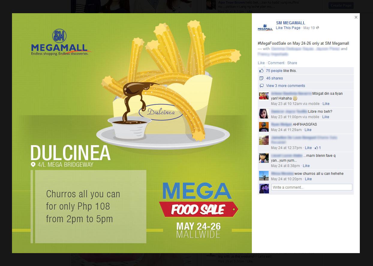 SM Mega Food Sale Social Card