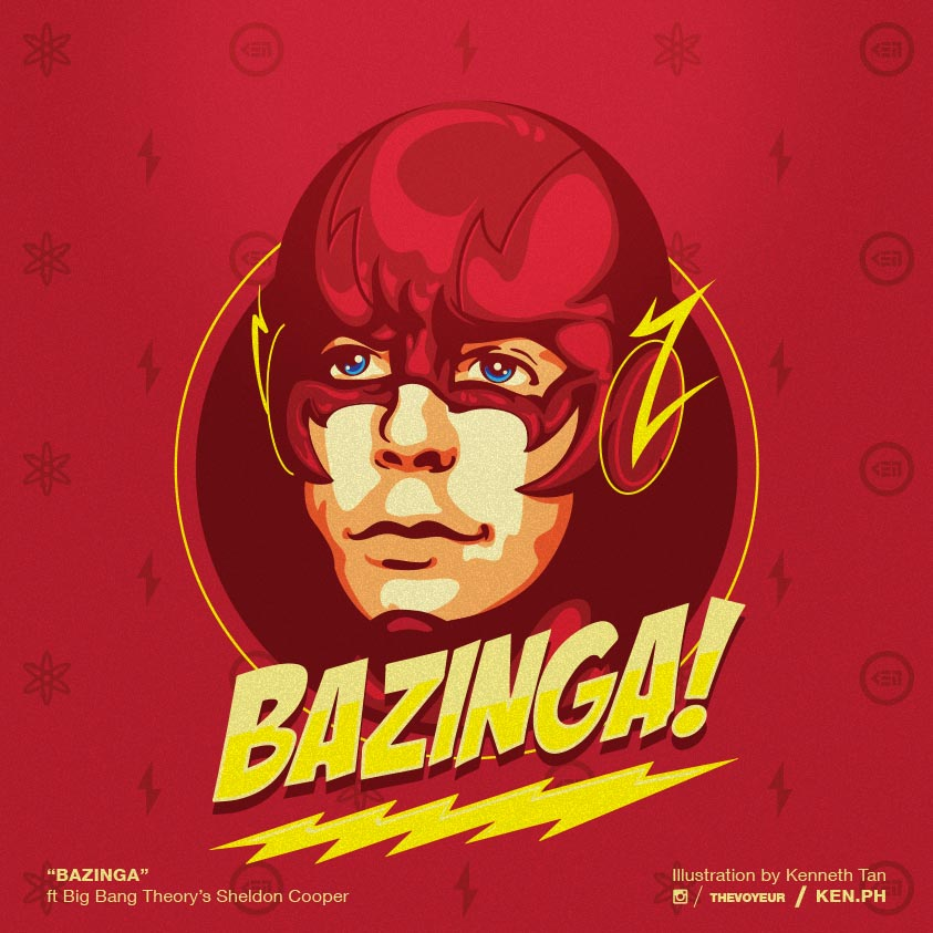 Big Bang Theory Sheldon as the Flash