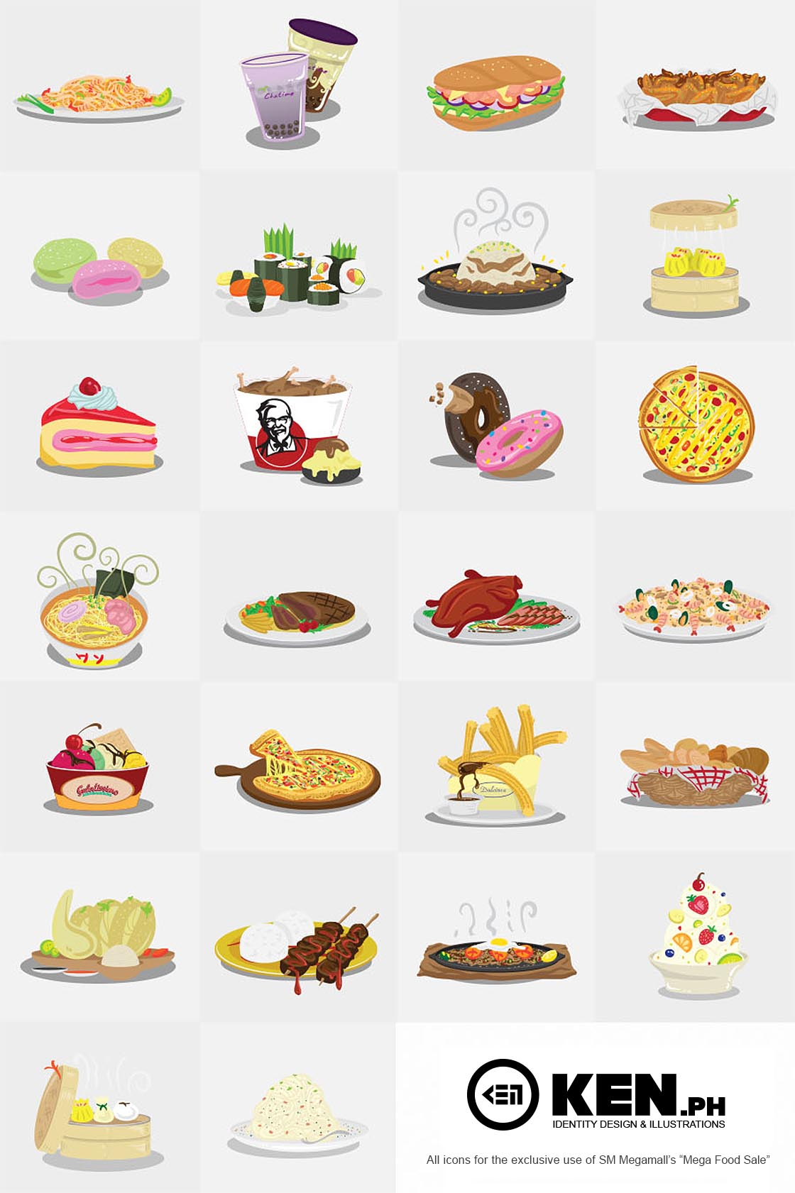 Custom Vector Food Icons