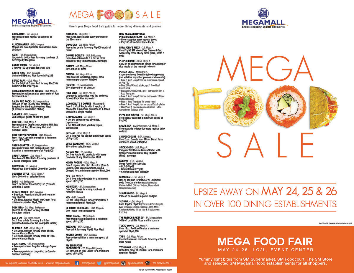 List of Mega Food Sale Participating Brands