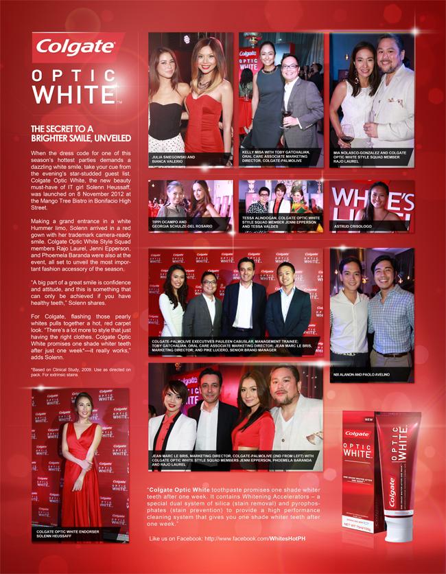 Colgate Optic White Magazine Layout