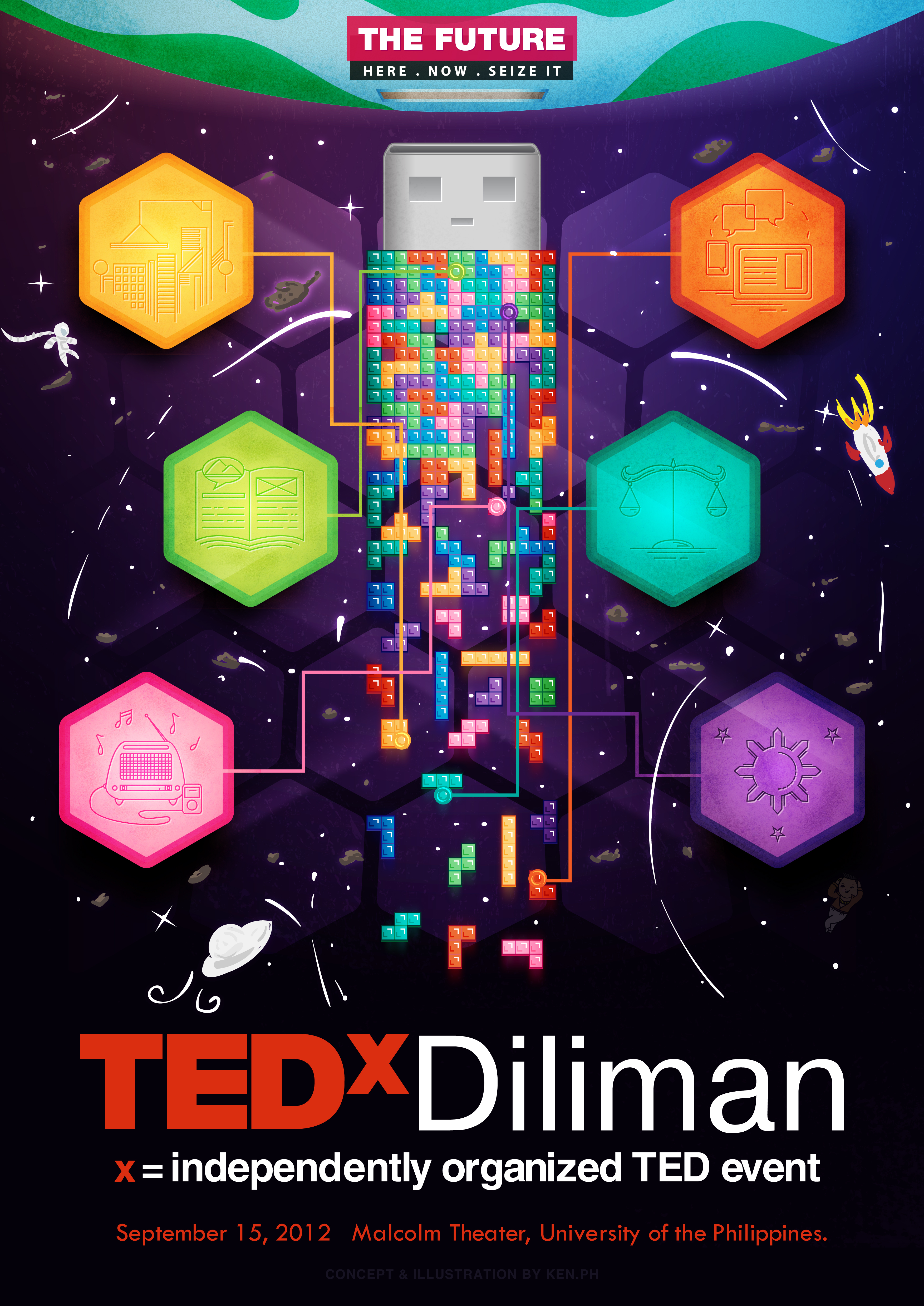 TEDx Diliman - THE FUTURE poster