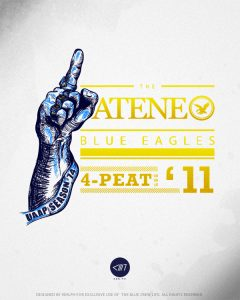 Ateneo's 4Peat Championship Shirt design for the UAAP