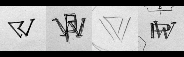 PW Monogram Sketches