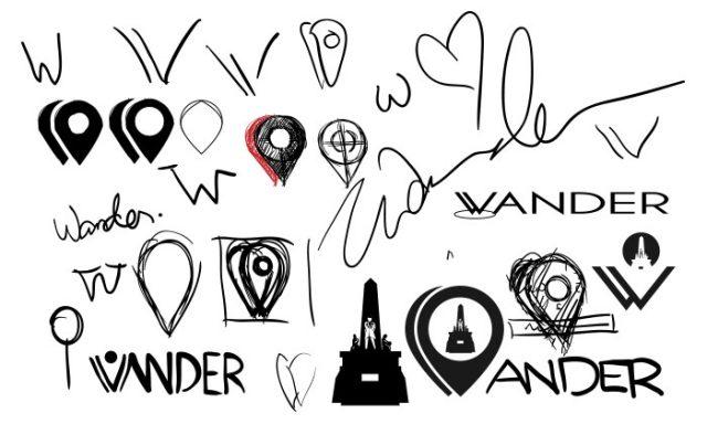 Wander Logo Sketches