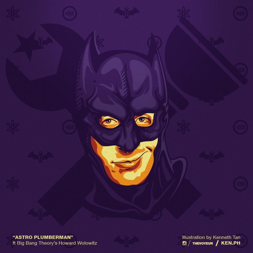 Big Bang Theory Howard as Batman