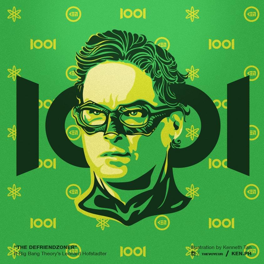 Big Bang Theory Leonard as Green Lantern
